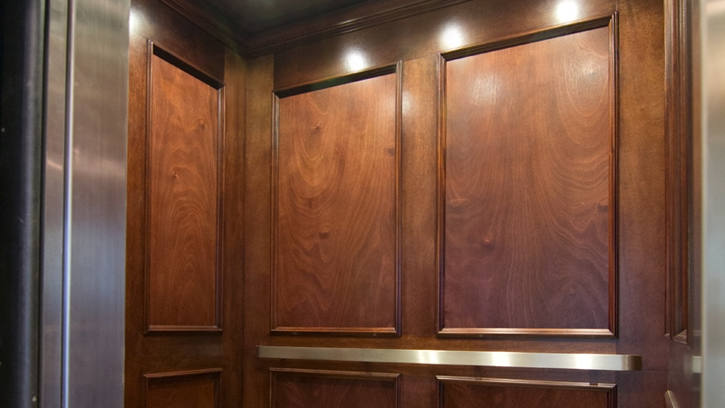 Photographs of Custom Elevator Interiors work